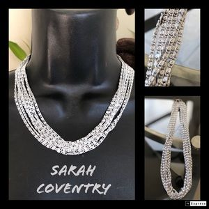 Sarah Coventry silver tone chain link necklace